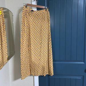 Vintage Breeches long floral print wrap skirt Sml